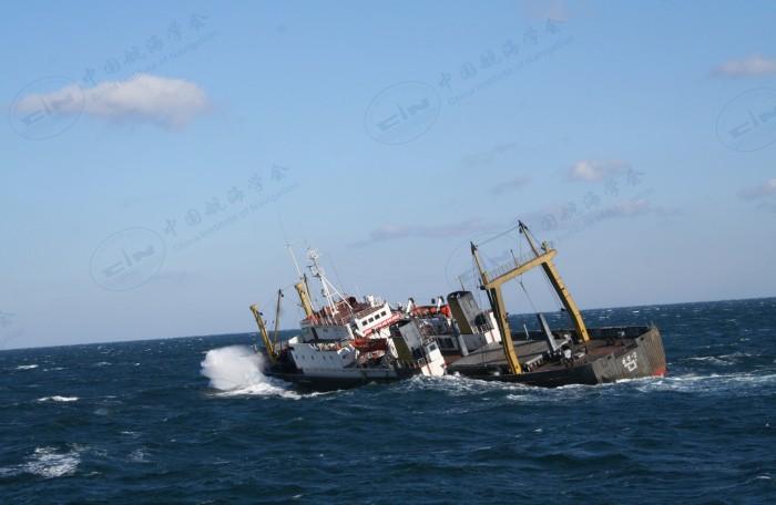 """2007年12月3日救助严重倾斜的朝鲜籍货船""""WONSAN2"""""""