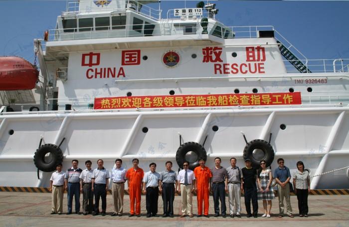 2009年8月27日112轮政协领导到船参观