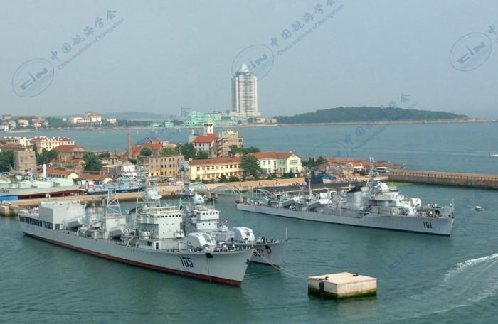 海军博物馆海上展区鸟瞰图