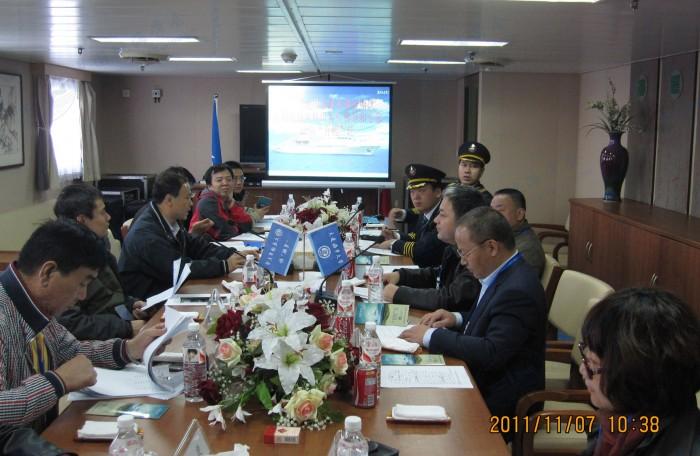 2011年国家海洋调查船队审核组考核